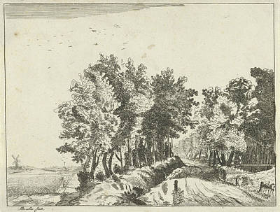 Landscape With A Hut On The Road, Anna Maria De Koker Art Print by Anna Maria De Koker