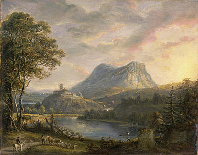 Rights Painting - Landscape With A Lake Signed And Dated, Lower Right Ps Ra | by Litz Collection