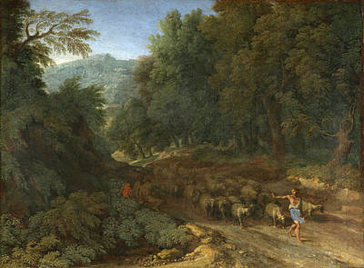 Painting - Landscape With A Shepherd And His Flock by Gaspard Dughet