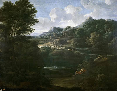 Painting - Landscape With A Shepherd by Gaspard Dughet