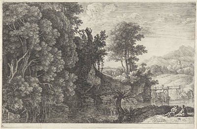 Landscape With A Wooden Bridge, Print Maker Herman Van Art Print
