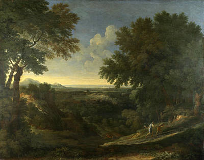 Painting - Landscape With Abraham And Isaac by Gaspard Dughet