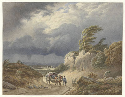 Landscape With Approaching Storm, Matthijs Maris Print by Quint Lox