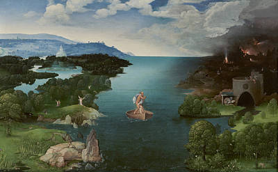 Landscape With Charon Crossing The Styx Art Print by Georgia Fowler