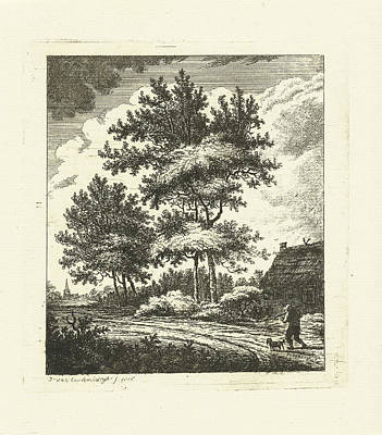 Old Country Roads Drawing - Landscape With Country Road, Johannes Van Cuylenburgh by Artokoloro