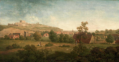 Laundry Painting - Landscape, With Dover Castle In The Distance A Distant View by Litz Collection