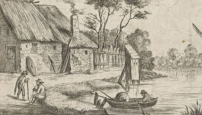 1636 Drawing - Landscape With Farm And Water, Anonymous by Artokoloro