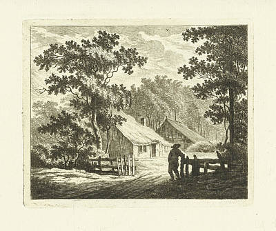 Fence Drawing - Landscape With Farm House And Yard With Fence by Artokoloro