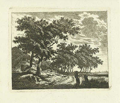 Old Country Roads Drawing - Landscape With Farm On Country Road, Johannes Van by Artokoloro