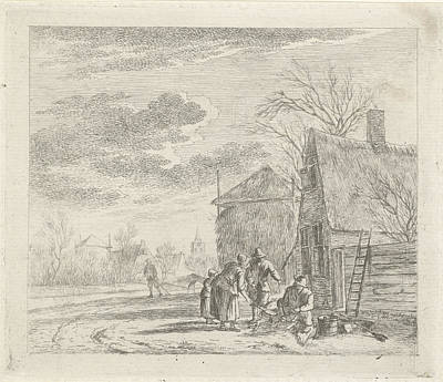 Old Barn Drawing - Landscape With Farmhouse And Barn, Johannes Janson by Artokoloro