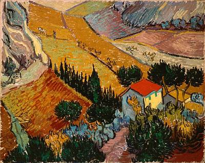 Painting - Landscape With House And Ploughman by Vincent van Gogh