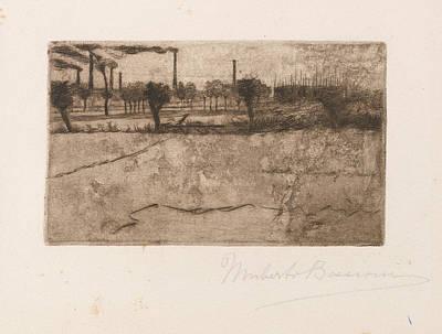 Umberto Boccioni Drawing - Landscape With Industrial Plants by Umberto Boccioni