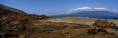 Galapagos Photograph - Landscape With Ocean In The Background by Panoramic Images