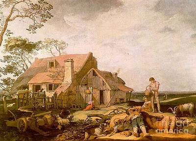 Abraham Painting - Landscape With Peasants Resting by Abraham Bloemaert