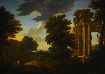Celestial Painting - Landscape With Ruins by Celestial Images