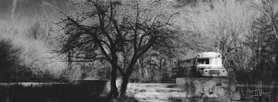 Photograph - Landscape With Schoolbus by Jim Vance