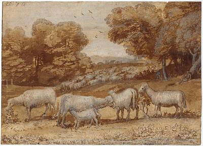 Landscape With Sheep Art Print by Claude Lorrain