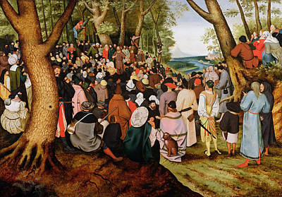 Baptist Painting - Landscape With Saint John The Baptist Preaching by Pieter the Younger Brueghel