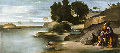 St John The Evangelist Painting - Landscape With St John The Evangelist by Juan Bautista Maino
