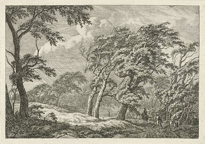 Landscape With Storm And Rain, Franciscus Andreas Milatz Art Print