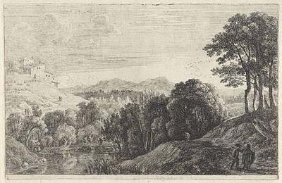 Landscape With Sunset, Herman Van Swanevelt Art Print by Herman Van Swanevelt