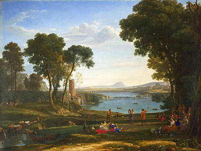 Rebecca Painting - Landscape With The Marriage Of Isaac And Rebecca by Claude Lorrain