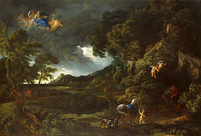 Painting - Landscape With The Union Of Dido And Aeneas by Gaspard Dughet