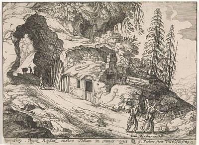 Landscape With Tobias And Archangel Raphael Art Print