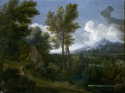 Painting - Landscape With Travelers by Gaspard Dughet