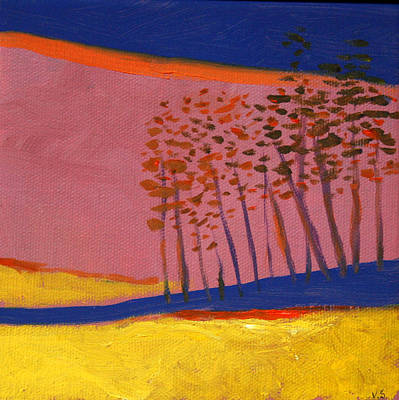 Painting - Landscape With Trees  by Victoria Sheridan