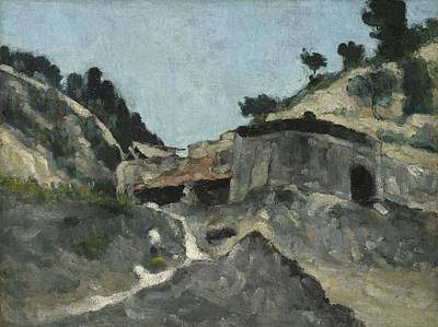 Water Mill Painting - Landscape With Water Mill, C.1871 by Paul Cezanne
