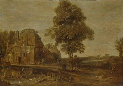 Work Place Drawing - Landscape With Watering Place, Aert Van Der Neer by Litz Collection
