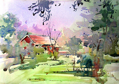 Watercolor Painting - Landscape1 by Raj Maji