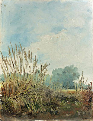 Meadow Painting - Landscape1 - Weeds Triptych by Irek Szelag