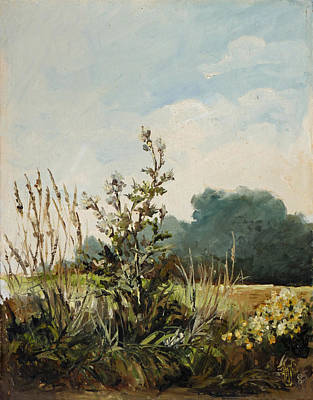 Meadow Painting - Landscape3 - Weeds Triptych by Irek Szelag