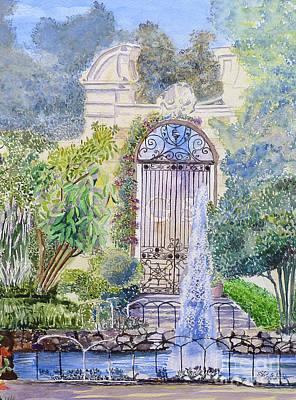 Landscaped Gardens Art Print