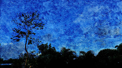 Public Holiday Painting - Landscapes In Blue Sky by Xueyin Chen