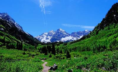 Take A View Photograph - Hiking Maroon Bells by Dan Sproul