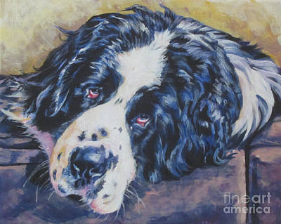 Newfoundland Puppy Painting - Landseer Newfoundland Dog by Lee Ann Shepard