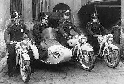 Policemen Photograph - Landshut City Police by Underwood Archives