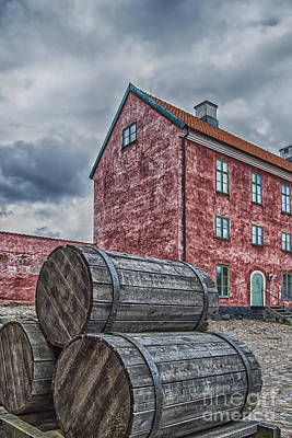 Landskrona Citadel With Barrels Art Print by Antony McAulay