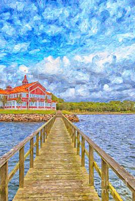 Landskrona Sea Shore Painting Art Print by Antony McAulay