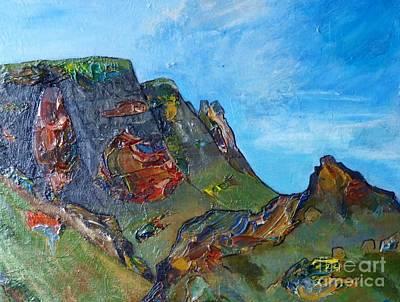 Landslip - Skye Art Print by Jacki Wright