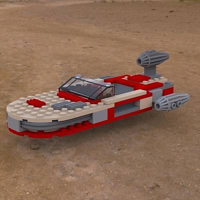 Lego Star Wars Digital Art - Landspeeder On The Ground by John Hoagland