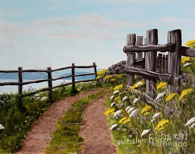 Painting - Lane At Highland Village by Jesslyn Fraser