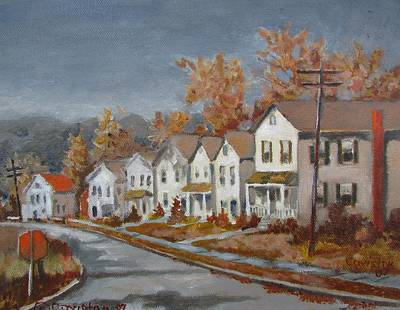 Painting - Lane In Fall by Tony Caviston