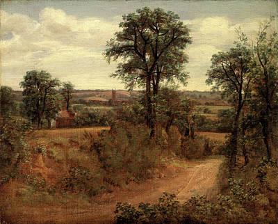 Dedham Painting - Lane Near Dedham Road Near Dedham, John Constable by Litz Collection
