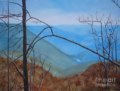 Smokey Mountains Painting - Lane Pinnacle by Stuart Engel