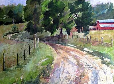 Country Dirt Roads Painting - Lane To Fester Farms by Spencer Meagher