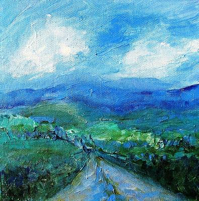 Lane To The Wicklow Hills Art Print